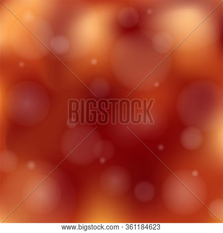 Maroon Background Blur With Lights. Abstract Square Background In Brown, Maroon, Orange, Yellow Tone