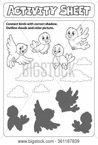 Activity Sheet Topic Image 6 - Eps10 Vector Picture Illustration.