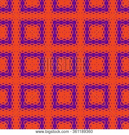 Vector Geometric Seamless Pattern With Fading Rhombuses, Diamond Shapes, Grid, Repeat Tiles. Halfton