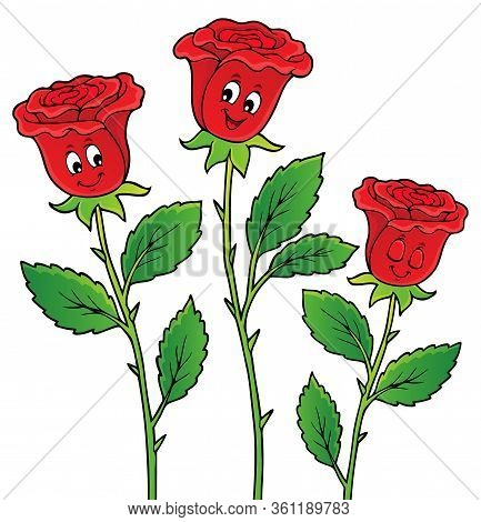 Rose Flower Theme Image 2 - Eps10 Vector Picture Illustration.