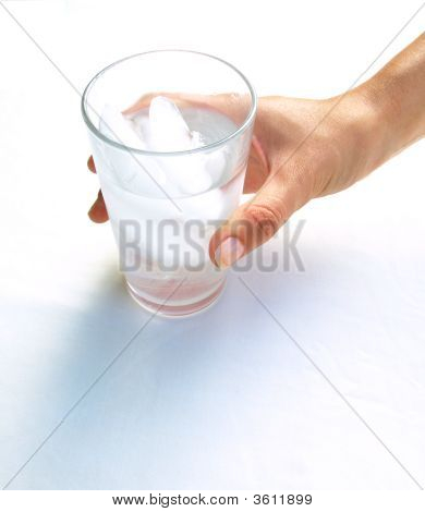 Iced Water In A Glass