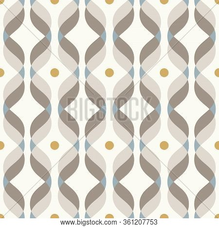 Ogee Seamless Vector Curved Pattern, Abstract Geometric Background. Perfect For Vintage Wallpapers,