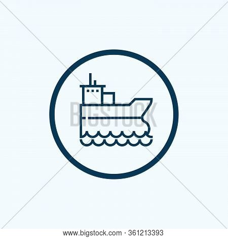 Oil Tanker Ship Glyph Icon Vector On White Background. Flat Vector Oil Tanker Ship Icon Symbol Sign