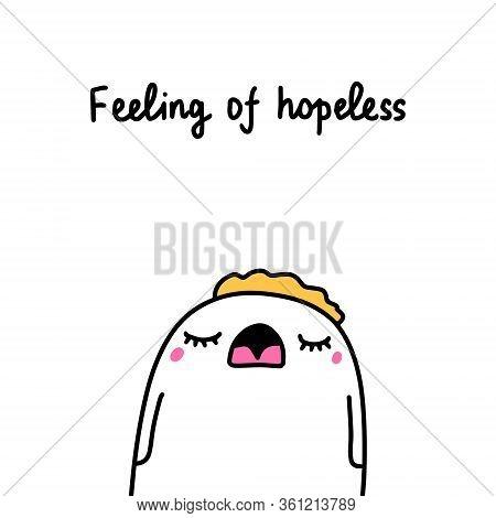 Feeling Of Hopeless Bipolar Disorder Symptom Man Expressive In Cartoon Comic Style