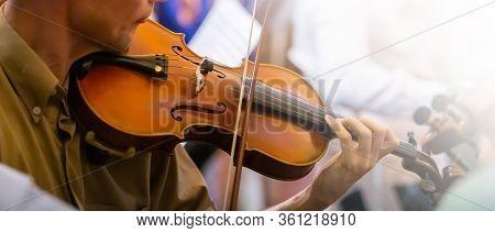 Musicians Rehearsing Violin Colors