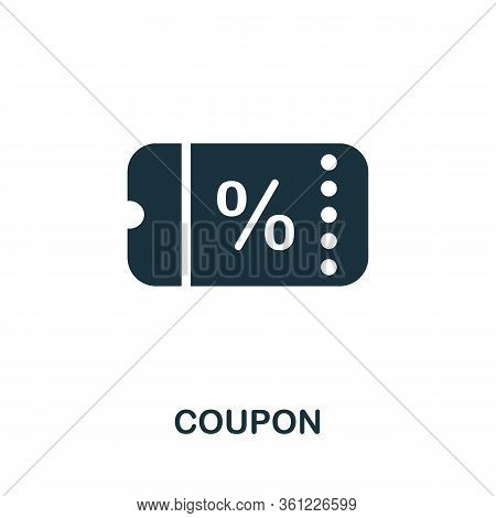 Coupon Icon. Simple Illustration From E-commerce Collection. Creative Coupon Icon For Web Design, Te