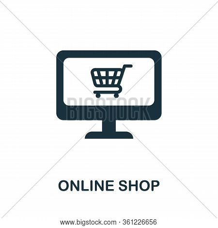 Online Shop Icon. Simple Illustration From E-commerce Collection. Creative Online Shop Icon For Web