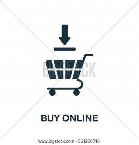 Buy Online Icon. Simple Illustration From E-commerce Collection. Creative Buy Online Icon For Web De