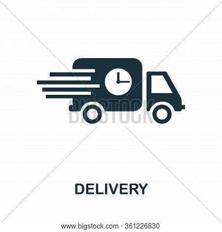 Delivery Icon. Simple Illustration From E-commerce Collection. Creative Delivery Icon For Web Design
