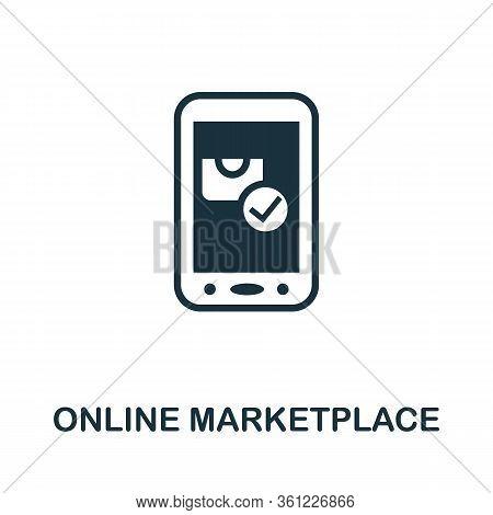Market App Icon. Simple Illustration From E-commerce Collection. Creative Market App Icon For Web De