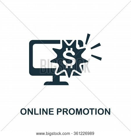 Online Promotion Icon. Simple Illustration From E-commerce Collection. Creative Online Promotion Ico