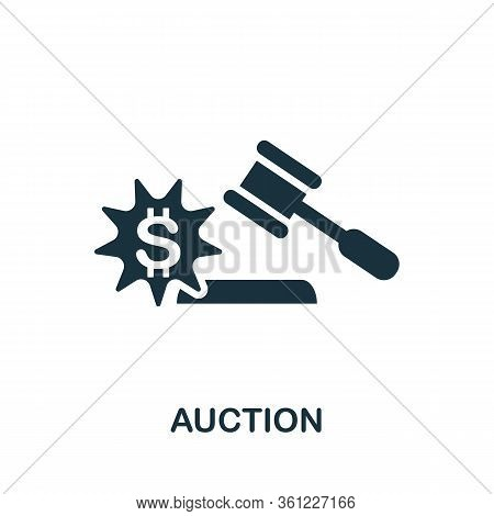 Auction Icon. Simple Illustration From E-commerce Collection. Creative Auction Icon For Web Design,
