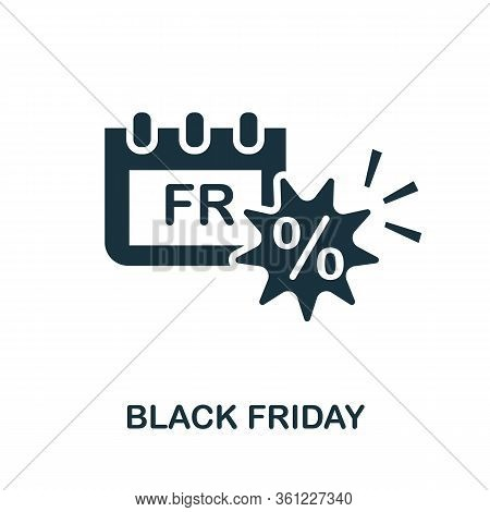 Black Friday Icon. Simple Illustration From E-commerce Collection. Creative Black Friday Icon For We