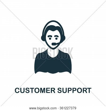 Customer Support Icon. Simple Illustration From E-commerce Collection. Creative Customer Support Ico