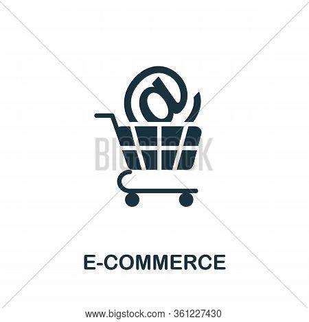 E-commerce Icon. Simple Line Element E-commerce Symbol For Templates, Web Design And Infographics