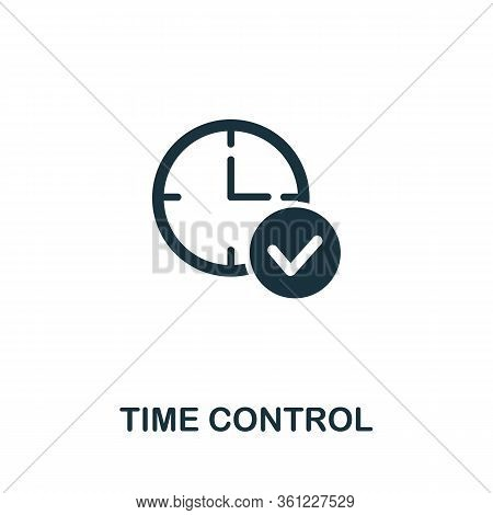 Time Control Icon From Personal Productivity Collection. Simple Line Time Control Icon For Templates