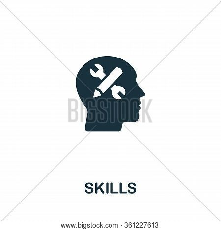 Skills Icon From Personal Productivity Collection. Simple Line Skills Icon For Templates, Web Design
