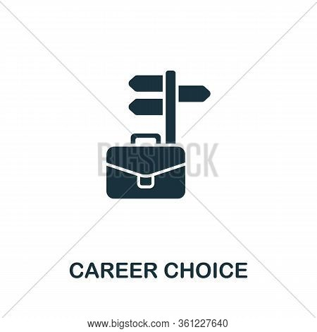Career Choice Icon From Personal Productivity Collection. Simple Line Career Choice Icon For Templat
