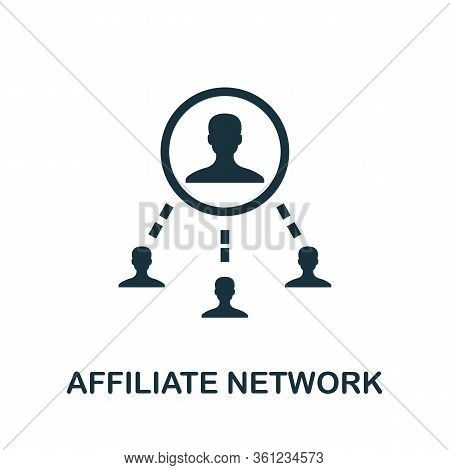 Affiliate Network Icon. Simple Element From Affiliate Marketing Collection. Filled Affiliate Network
