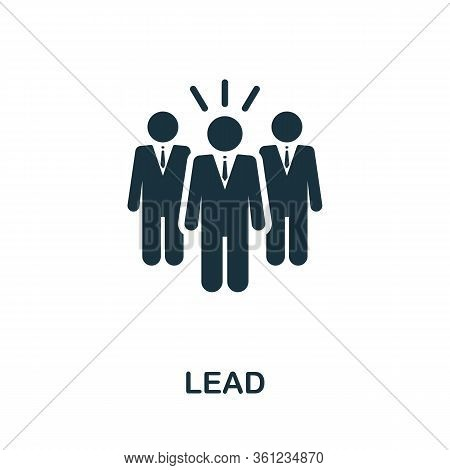 Lead Icon. Simple Element From Affiliate Marketing Collection. Filled Lead Icon For Templates, Infog