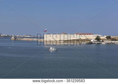 Sevastopol, Crimea, Russia - July 28, 2019: Konstantinovsky Fort On Navy Day July 28, 2019. Sevastop