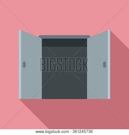 Office Entrance Icon. Flat Illustration Of Office Entrance Vector Icon For Web Design