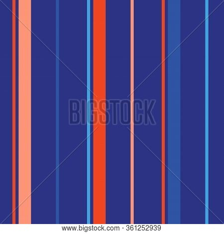 Vertical Stripes Pattern. Simple Vector Seamless Texture With Thin And Thick Lines. Modern Abstract
