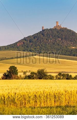 Hazmburk in the Ceske Stredohori, Czech Republic