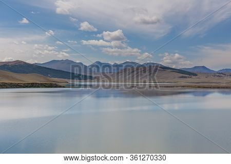 Altai, Mongolia. Typical View Of Mongolian Landscape. Mongolian Altai, Beautiful Mountain Landscape,
