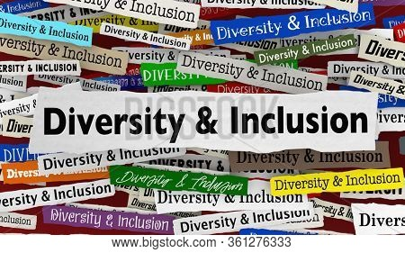 Diversity and Inclusion News Headlines Trends Diverse Include Everyone 3d Illustration