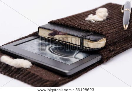 unique handmade e-books reader and notebook cover