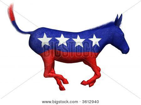 Democrat Donkey Galloping