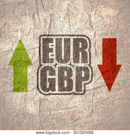 Financial Market Trading Concept. Currency Pair. Acronym Gbp - Great Britain Pound Currency. Acronym