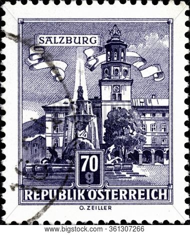 02.11.2020 Divnoe Stavropol Territory Russia Postage Stamp Austria 1962 Architectural Monuments In A