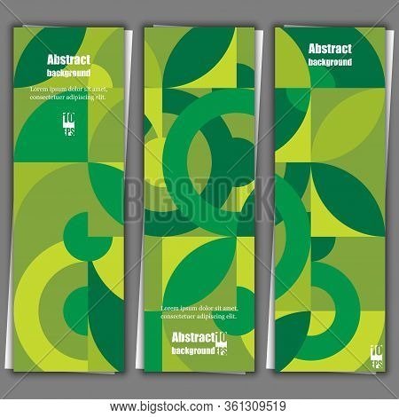 Graphic Illustration. Abstract Background With Geometric Pattern. Banner Template. Eps10 Vector Illu