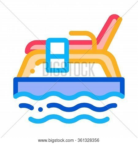 Underwater Tube Icon Vector. Underwater Tube Sign. Color Symbol Illustration