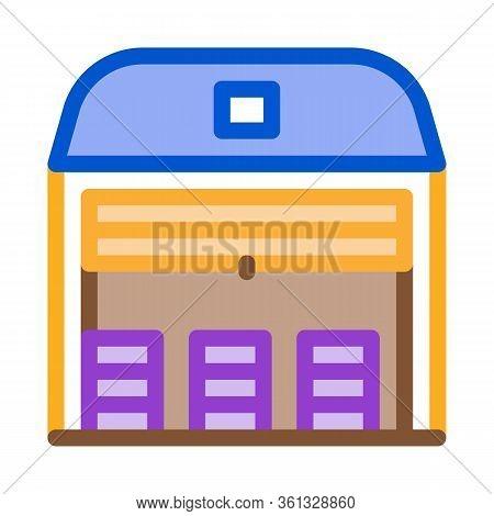 Storage Garage Icon Vector. Storage Garage Sign. Color Symbol Illustration