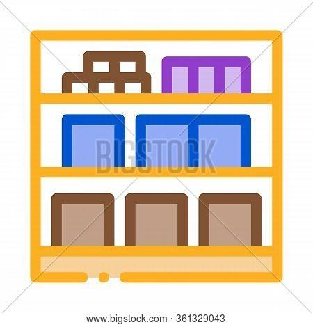 Basement Cellar Icon Vector. Basement Cellar Sign. Color Symbol Illustration