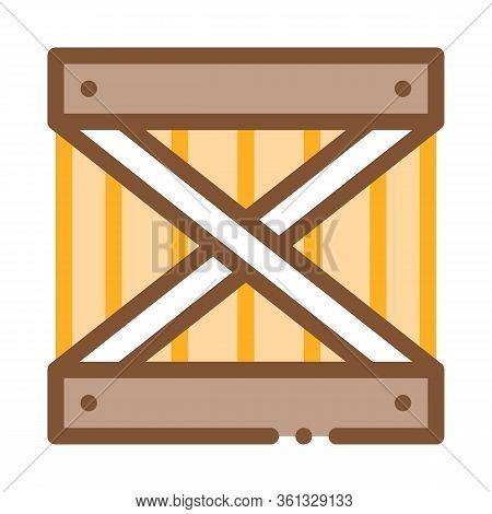 Wood Ban Icon Vector. Wood Ban Sign. Color Symbol Illustration