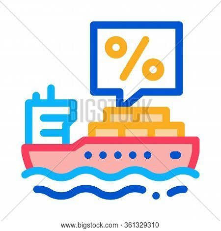 Interest Transportation Icon Vector. Interest Transportation Sign. Color Symbol Illustration