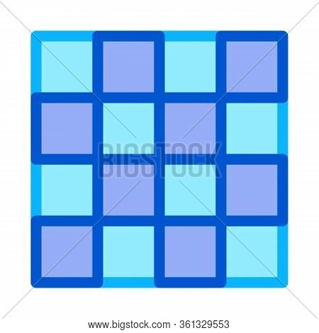 Symmetrical Tile Surface Icon Vector. Symmetrical Tile Surface Sign. Color Symbol Illustration