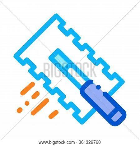 Tile Scraper Icon Vector. Tile Scraper Sign. Color Symbol Illustration