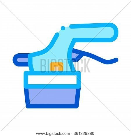Tile Cutter Icon Vector. Tile Cutter Sign. Color Symbol Illustration