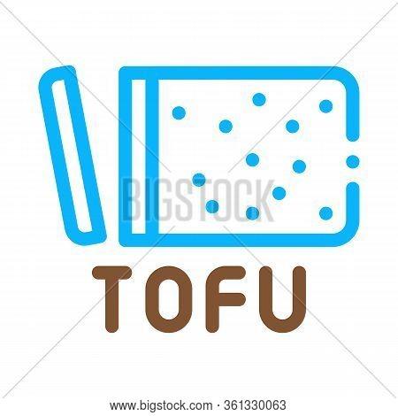 Tofu Cheese Icon Vector. Tofu Cheese Sign. Color Symbol Illustration