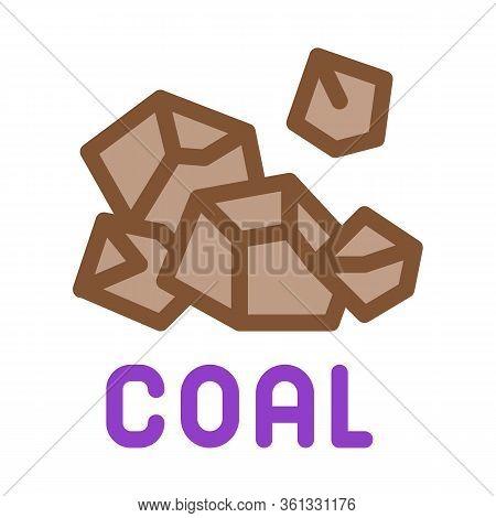 Coal Particles Icon Vector. Coal Particles Sign. Color Symbol Illustration