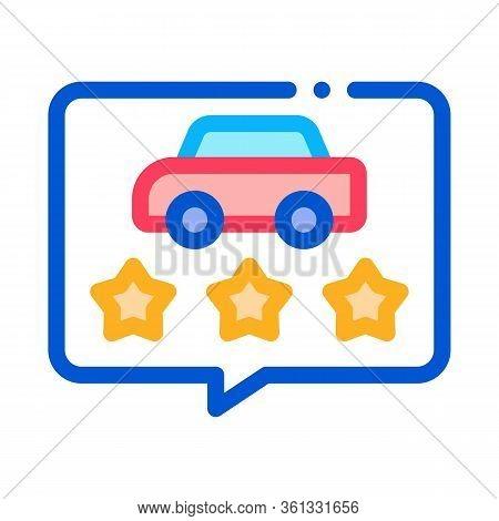 Car Quality Assessment Icon Vector. Car Quality Assessment Sign. Color Symbol Illustration