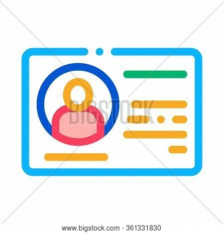 Driving License Icon Vector. Driving License Sign. Color Symbol Illustration