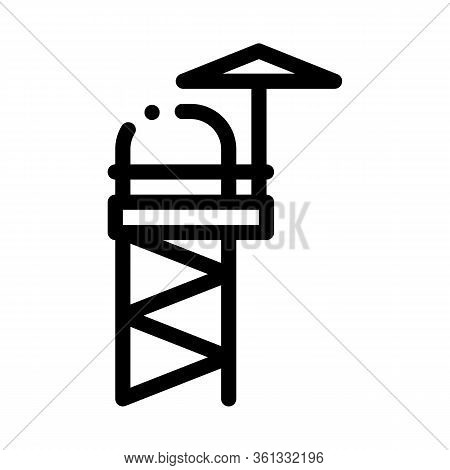 Rescue Tower Icon Vector. Rescue Tower Sign. Isolated Contour Symbol Illustration