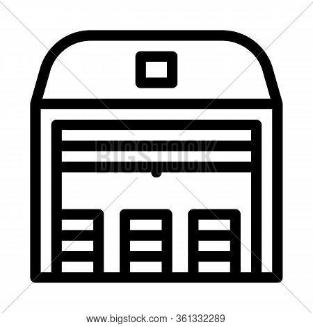 Storage Garage Icon Vector. Storage Garage Sign. Isolated Contour Symbol Illustration