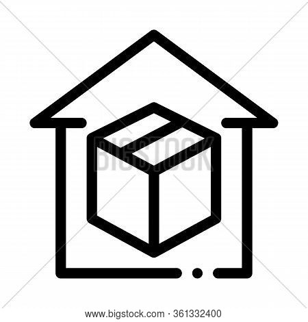 Sending Parcel Icon Vector. Sending Parcel Sign. Isolated Contour Symbol Illustration